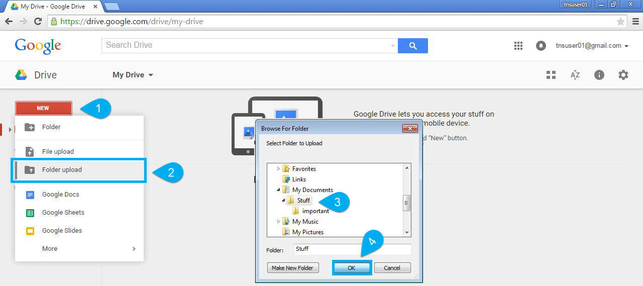 How to Upload and Download Folders in Google Drive